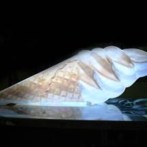 Back Light impreso En forma de cono