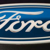 Cartel de acrilico impreso modelo Ford