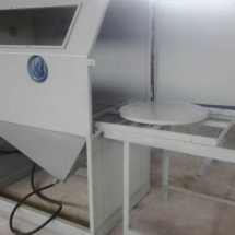 Cabina arenadora a precion CMV compacta_