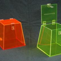 Caja deacrilico color