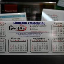 Calendario de acrilico 3 colores