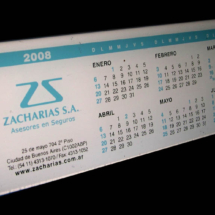 Calendario en acrilico a 3 colores