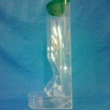 Caramelera bota de acrilico Cristal