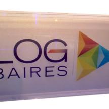 Cartrel Log Baires, con recuadro cristal