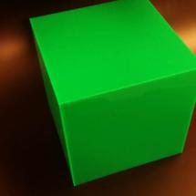Cubo de acrilico a color