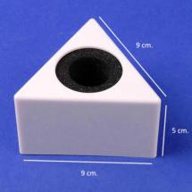 Cubo portamicrofono triangular impreso