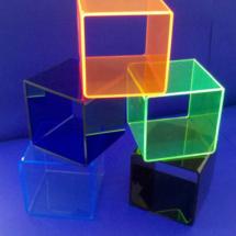Cubos de acrilico