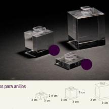 Cubos macizo de acrilico