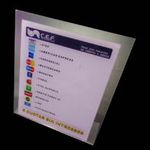 Display de acrilico impreso