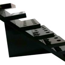 Exhibidor de acrilico negro escalonado