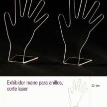 Exhibidor de manos para anillos