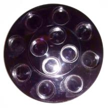 Exhibidor en forma de disco en 6 mm de espesor