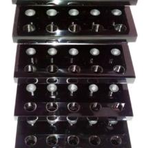 Exhibodr en acrilico negro 8 mm de espesor