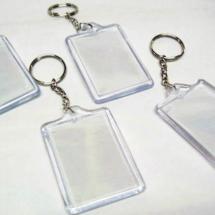 Llaveros 6 x 4 plastico semi elaborados