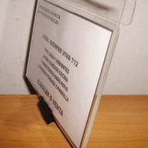 Porta laminas de acrilico para inmobiliaria