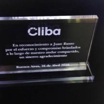 Premio de acrilico cliba de 12 x 16 cm
