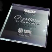Premio de acrilico en 22 mm de espesor sin base