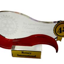 Premio de acrilico grabado, impreso y con bicapa dorada