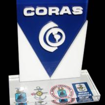 Premio de acrilico impreso full color con logo corporeo