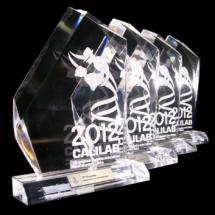 Premios de acrilico grabado por laser