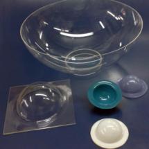 Semiesferas acrilicas termoformadas