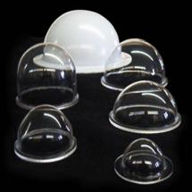Semiesferas de acrilico termoformadas