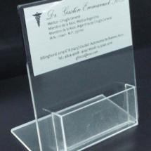 Tarjetero de acrilico cristal