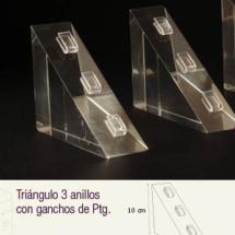 Triangulo de acrilico para anillos