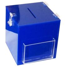 Urna de acrilico con bolsillo para folletos